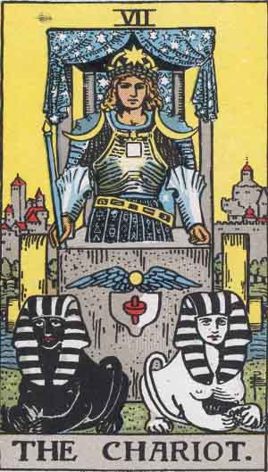 Chariot tarot card in the Rider Waite Smith Deck