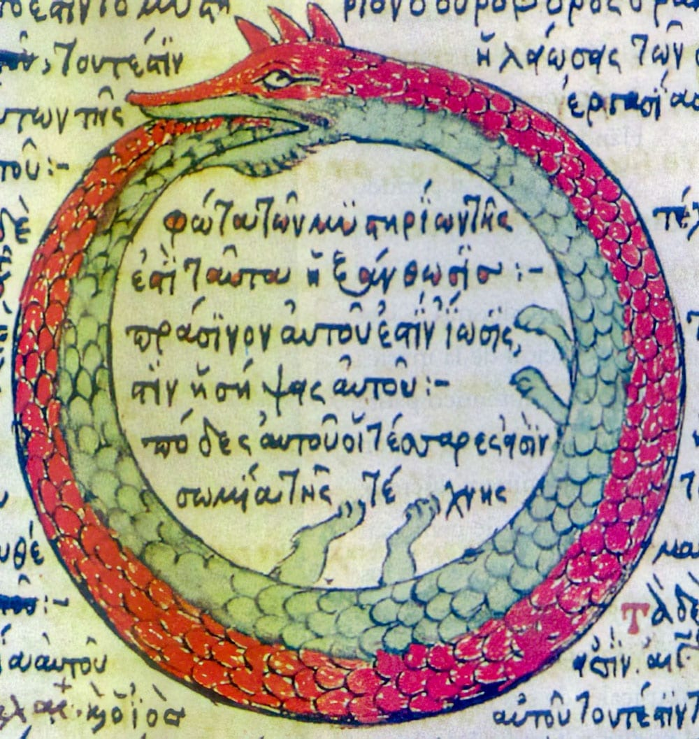 Ouroboros drawing from 1478