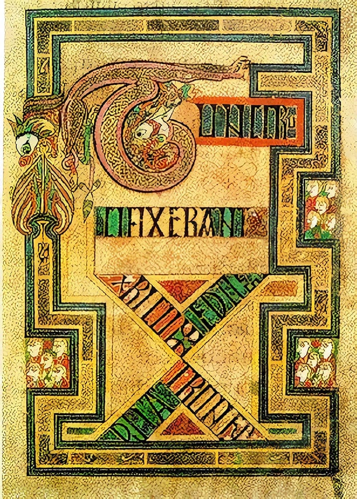 ouroboros from The Book of Kells