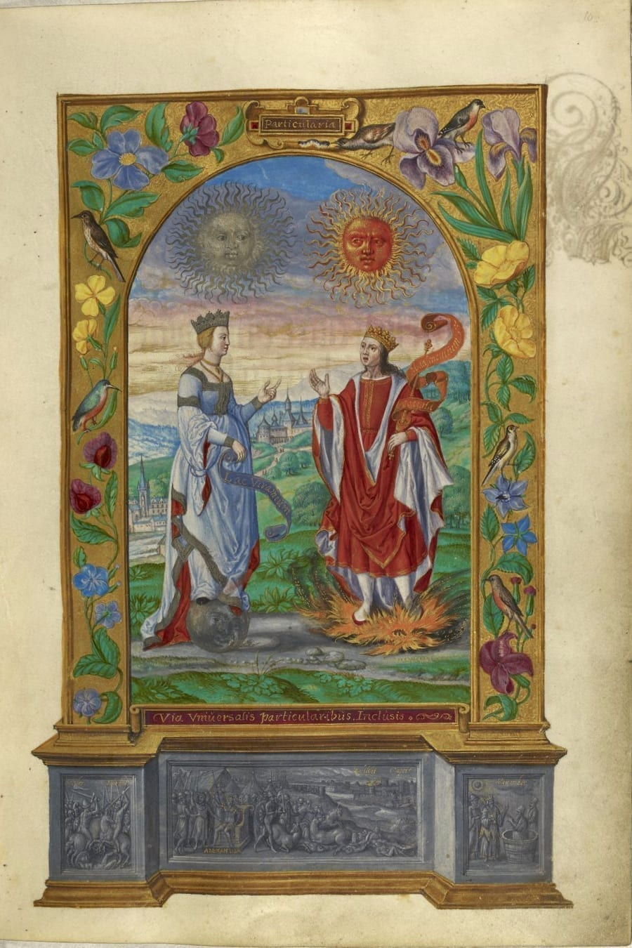 Illustration of king and queen from the Alchemical manuscript Splendor Solis