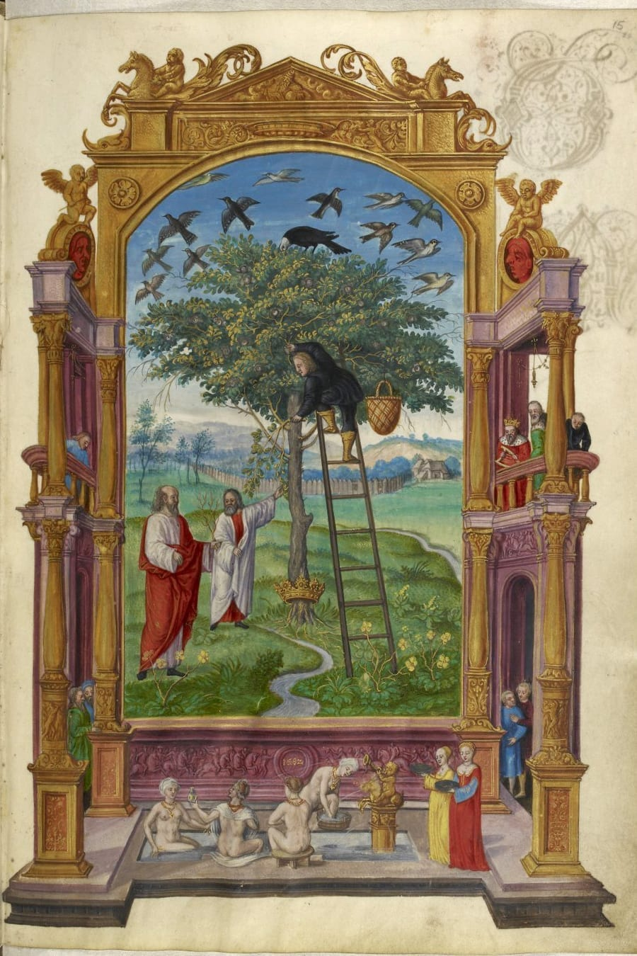 Illustration of mining for gold from the Alchemical manuscript Splendor Solis