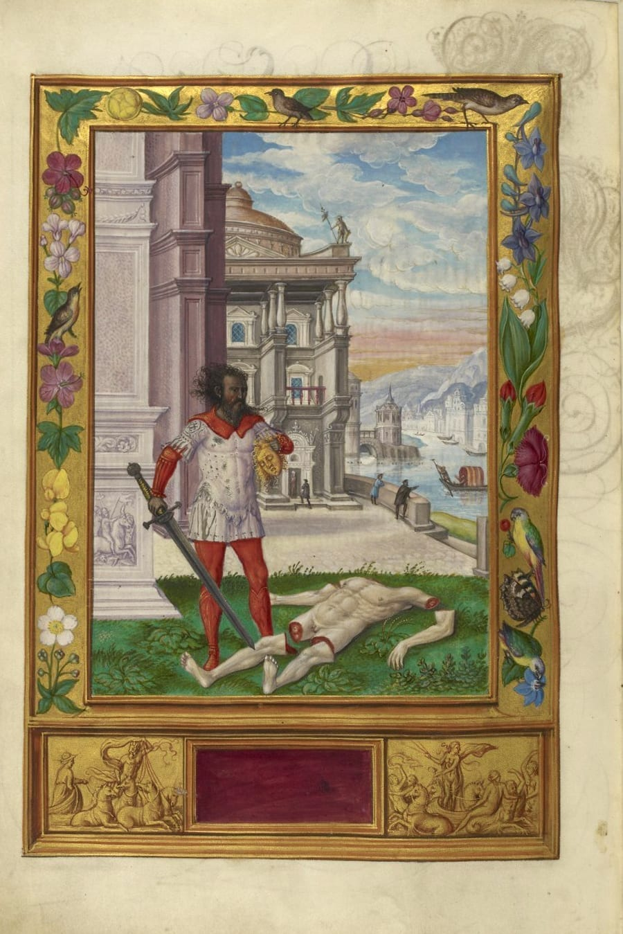Illustration of man with a sword from the Alchemical manuscript Splendor Solis
