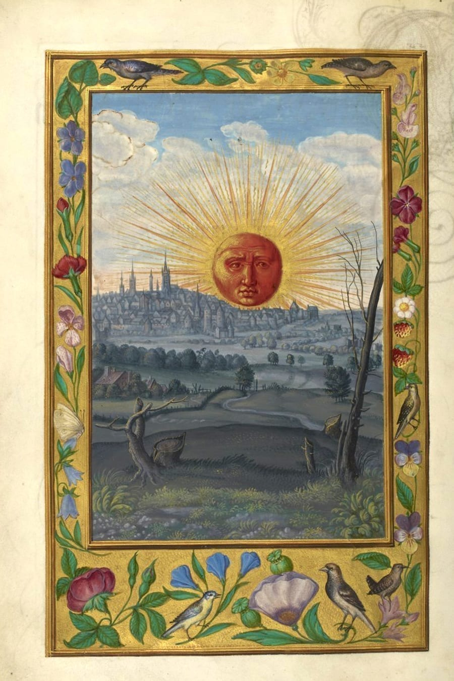 Illustration of the sun from the Alchemical manuscript Splendor Solis
