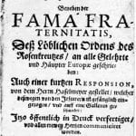 photo of Fama Fraternitatis page