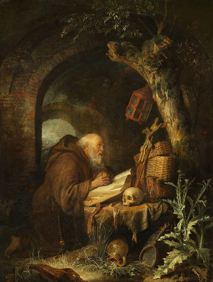 oil painting The Hermit by GERRIT DOU